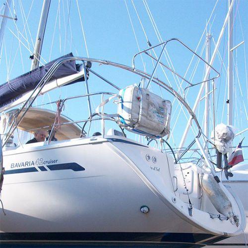 supporto per pannello solare per barche