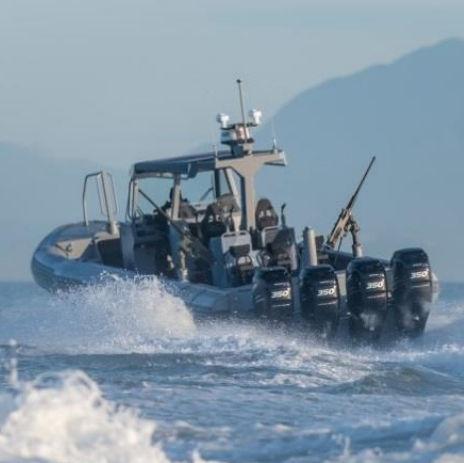 barca militare / fuoribordo / in alluminio / gommone semirigido