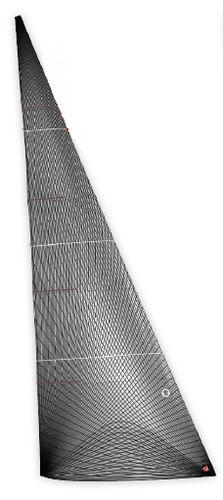 vela di prua / per barca a vela da competizione / a membrana / in carbonio
