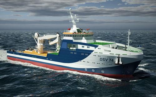 nave di supporto offshore di supporto per immersione