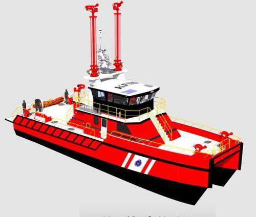 barca antincendio catamarano / entrobordo