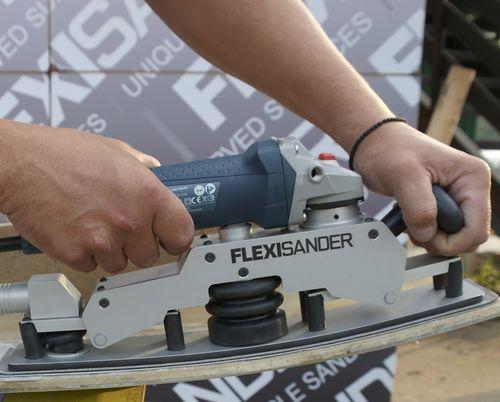 Levigatrice per cantiere navale / lineare / elettrica / con evacuazione delle polveri FSB series Flexicat Tools s.r.o
