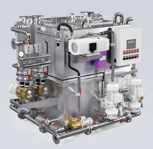 sistema di trattamento di acque reflue / per nave / biologica / a vuoto