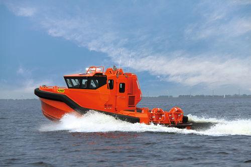 battello di emergenza per nave / a idrogetto / entrobordo / in alluminio