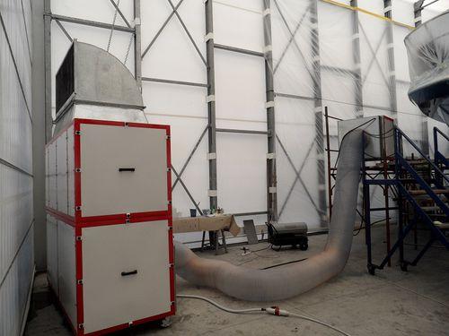 estrattore di polvere mobile / per cantiere navale