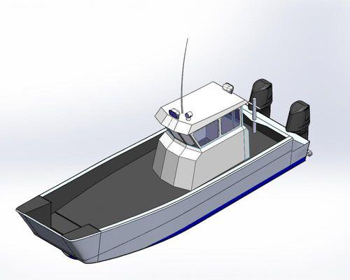 Mezzo da sbarco fuoribordo Work Rozema Boats Works
