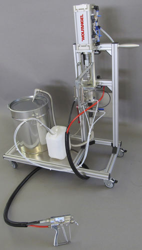 macchina a spruzzo gelcoat / con miscelatura esterna / per cantiere navale