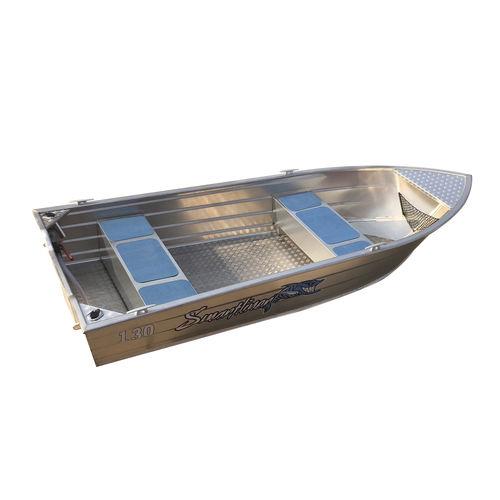 lancia in alluminio / fuoribordo / open / con console centrale