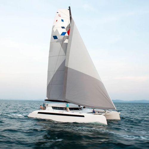 Catamarano / da crociera d'altura / con poppa aperta 65 Alibi