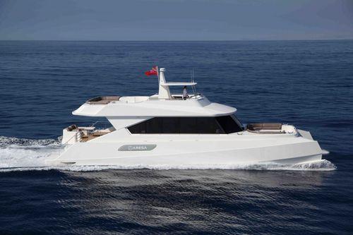 Motor-yacht catamarano / da crociera / con fly / GRP 2100 Cat Grup Aresa Internacional