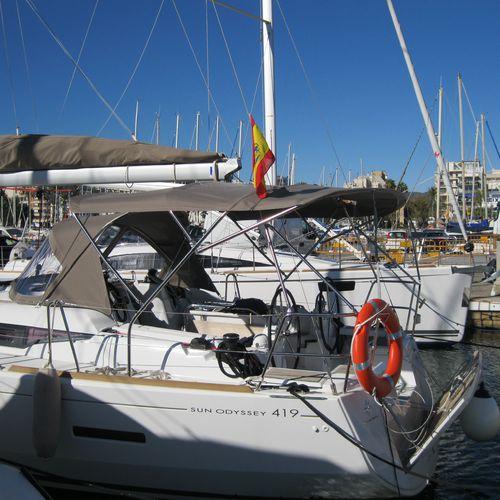 tendalino parasole per barca a vela / per cabina di pilotaggio / con struttura in acciaio inossidabile