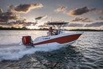 barca open fuoribordo / da pesca sportiva / max. 8 persone / con T-top