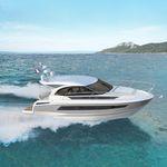 Cabinato entrobordo / hard-top / con 2 cabine / con prendisole LEADER 33 Jeanneau - Motorboats