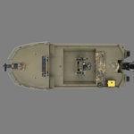 Jon boat fuoribordo / con console centrale / da pesca sportiva / in alluminio 1860 MVX SPORTSMAN Triton Boats