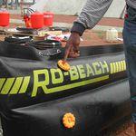 barriera antinquinamento / gonfiabile / per acque calme
