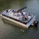 pontoon boat fuoribordo / tri-tube / da pesca sportiva / max. 12 persone