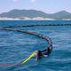 barriera antinquinamento / gonfiabile / alto mare