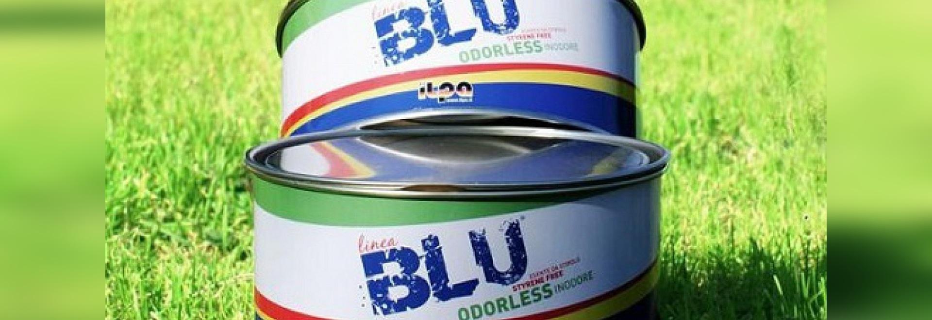 BLU è un mastice ecologico e senza stirene della barca (cortesia di Ilpa Adesivi)