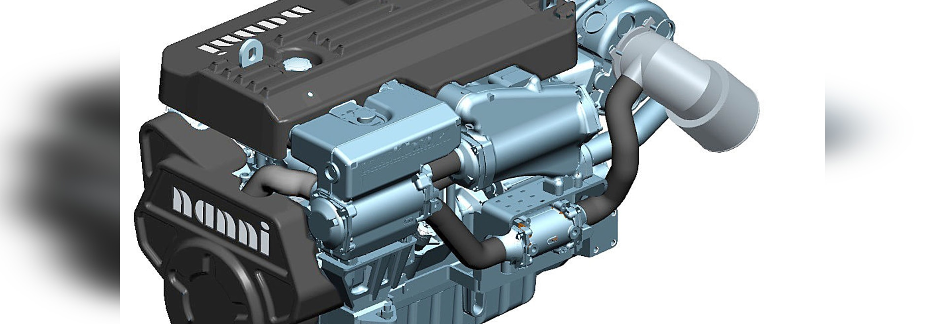Le nuove serie d'argento del motore N9.600 di NANNI alla barca di Düsseldorf mostrano!