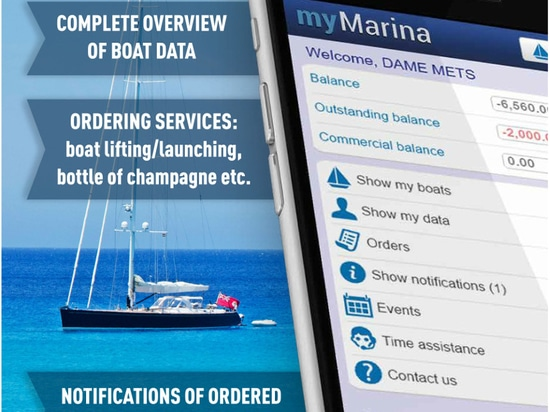 myMarina - nuovo integrato cloud-based CRM concentrandosi sul migliorare esperienza del navigante.