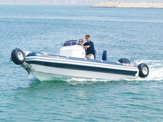 Barca anfibia fuoribordo di ASIS