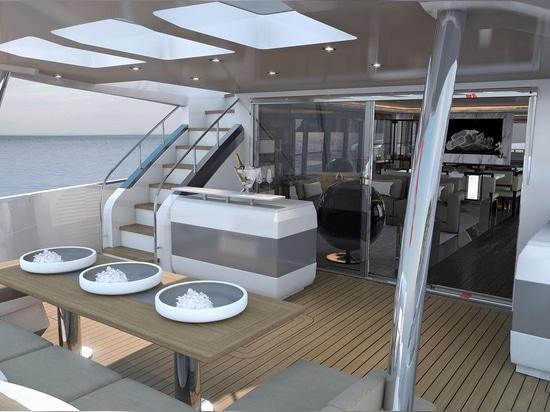 Perla 95 del superyacht dei lanci degli yacht della perla prima
