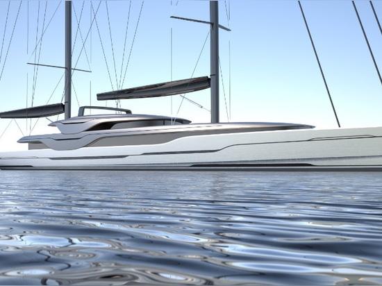 Van Geest e Rob Doyle Design rivelano il nuovo yacht di navigazione 93m