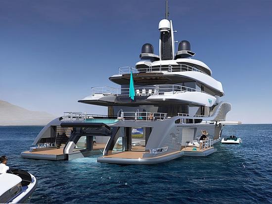 Gli yacht del turchese rivela il concetto del superyacht di 77m: Quantum