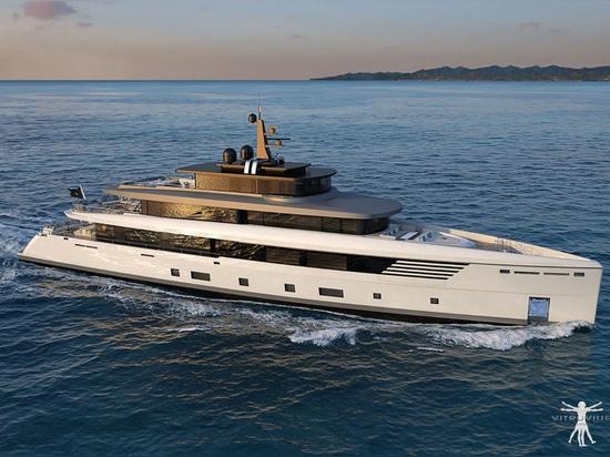 Il nuovo yacht su ordinazione del motore di 56m di Perini Navi arriva in La Spezia