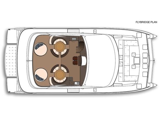 Concetto del catamarano della tri piattaforma dei 25m degli yacht di Amasea