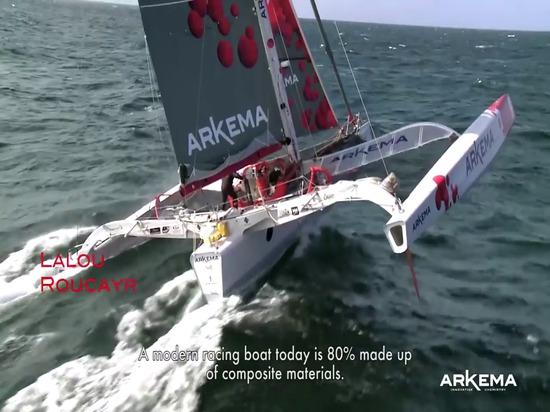 Team Arkema - infusione de la coque et Du Pont du Proto Mini 6,50