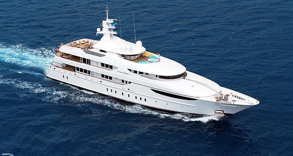 Mega-yacht di lusso da crociera - OASIS - Lurssen Yachts - raised pilothouse / con scafo dislocante