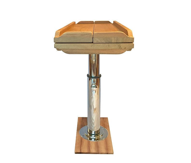 Barca Pieghevole Trasportabile.Tavolo Per Barca Pieghevole Regolabile In Teak Ivy T