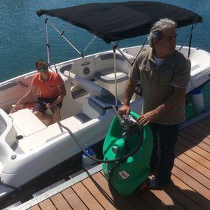 serbatoio di carburante / per barca / portatile / con pompa trasferimento