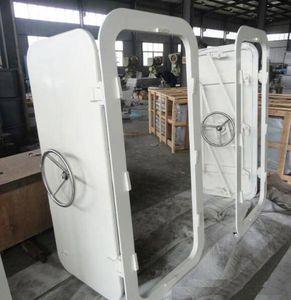 porta per nave / scorrevole verticale / con cerniera laterali / a tenuta stagna