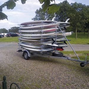 rimorchio per canoa-kayak