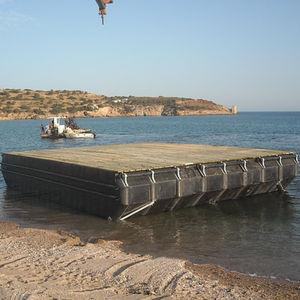 pontile galleggiante / da lavoro / per acquacoltura / in polietilene