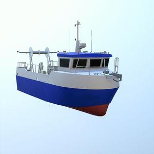 barca professionale barca da pesca professionale / entrobordo / in alluminio