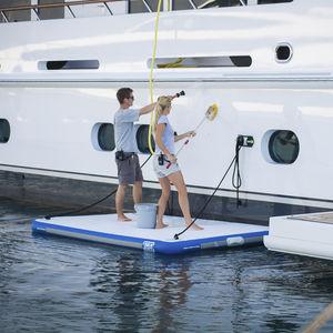 piattaforma per yacht / da bagno / gonfiabile / di imbarco