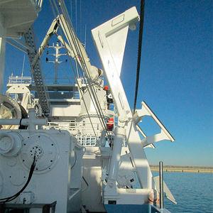 gruetta per barca di salvataggio