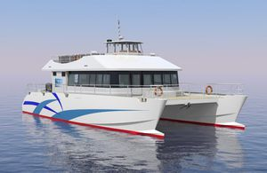 barca professionale barca per trasporto passeggeri / catamarano / entrobordo / in alluminio