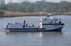 barca professionale nave oceanografica / entrobordo a idrogetto / in alluminio