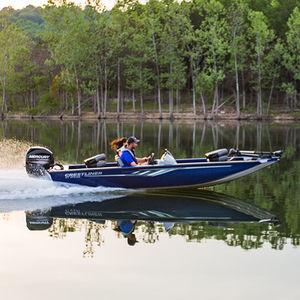 crappie boat fuoribordo / con console laterale / da pesca sportiva / in alluminio