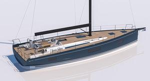 sailing-yacht da crociera / da regata e crociera / con poppa aperta / con 3 cabine