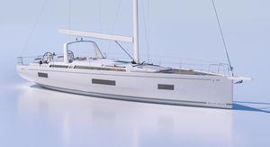 sailing-yacht da crociera / con poppa aperta / con 3 cabine / con doppio timone a ruota