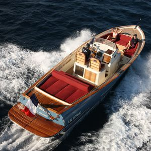 barca open entrobordo / diesel / bimotore / con scafo planante