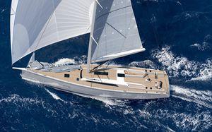 sailing-yacht da crociera / con poppa aperta / a doppio timone / con doppio timone a ruota