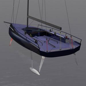 barca a vela da regata / con poppa aperta / con foil / con bompresso