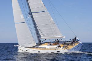 sailing-yacht da regata e crociera / con poppa aperta / a doppio timone / con doppio timone a ruota
