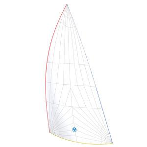 spinnaker asimmetrico / gennaker / per barca a vela da crociera / triradiale